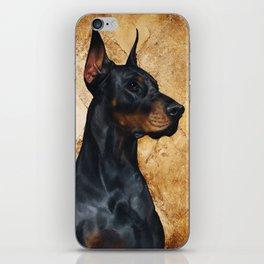 Black and Gold ( Doberman dog ) iPhone Skin