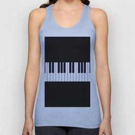 Piano Keys - Black and white simple piano keys pattern minimalistic music themed artwork Unisex Tank Top
