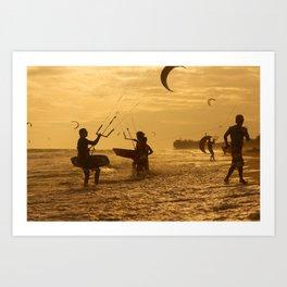 Kitesurfing Art Print