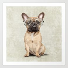 Mr French Bulldog Art Print