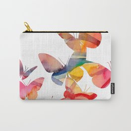 Orange Butterflies Carry-All Pouch