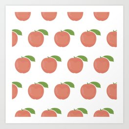 Orange Peaches Art Print