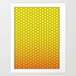 Beeswax hexagonal pattern Art Print