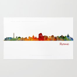 Rome city skyline HQ v01 Rug