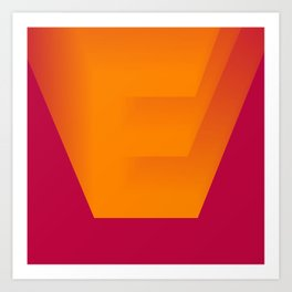 "The "" FADE "" Series - E Art Print"
