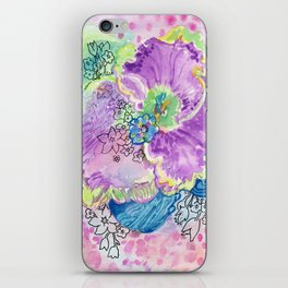 Purple Abstract Floral iPhone Skin