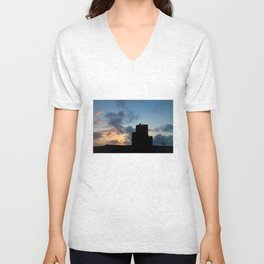 O'Brien's Tower, Cliffs of Moher, County Clare, Ireland Unisex V-Neck