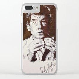 Sir McKellen Clear iPhone Case
