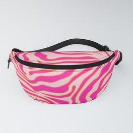 Zebra Print Pink And Orange Zebra Stripes Wild Animal Print Preppy Decor Modern Zebra Pattern Fanny Pack