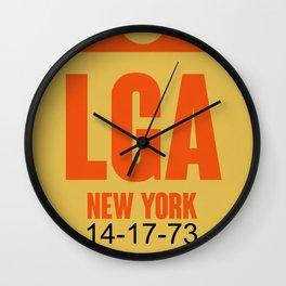 LGA New York Luggage Tag 1 Wall Clock