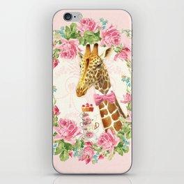 Giraffe high tea iPhone Skin