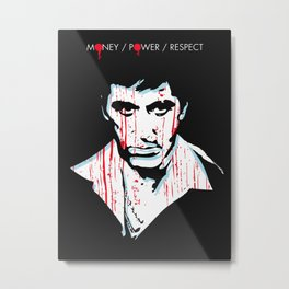 Scarface movie portrait Metal Print