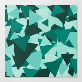 Points of Green Canvas Print