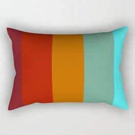 Yoshika - Multicolor Retro Stripes Rectangular Pillow