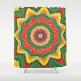 mandala yellow/green Shower Curtain