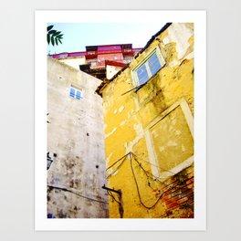 YELLOW HOUSE - URBAN LISBON  Art Print