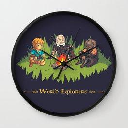 World Explorers Wall Clock