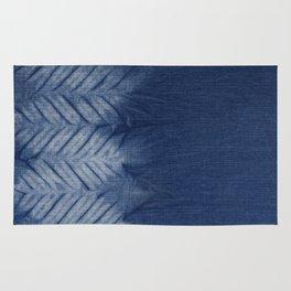 Shibori Chevron Stripe Rug