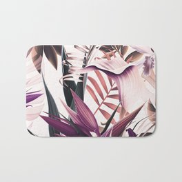 Magenta tropical Bath Mat