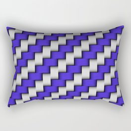 Dark Blue Weave Rectangular Pillow