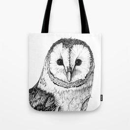 Barn Owl - Drawing In Black Pen Tote Bag