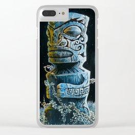 Marquesan Entwined Clear iPhone Case