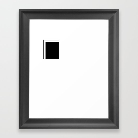 elements of S (Space Mountain) Framed Art Print
