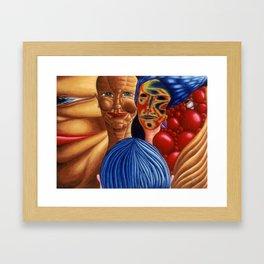 Sometimes Human Framed Art Print