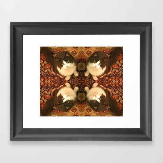 Shchuka, kaleidoscopic cat Framed Art Print