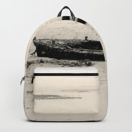 Old boat sank in the beach Backpack