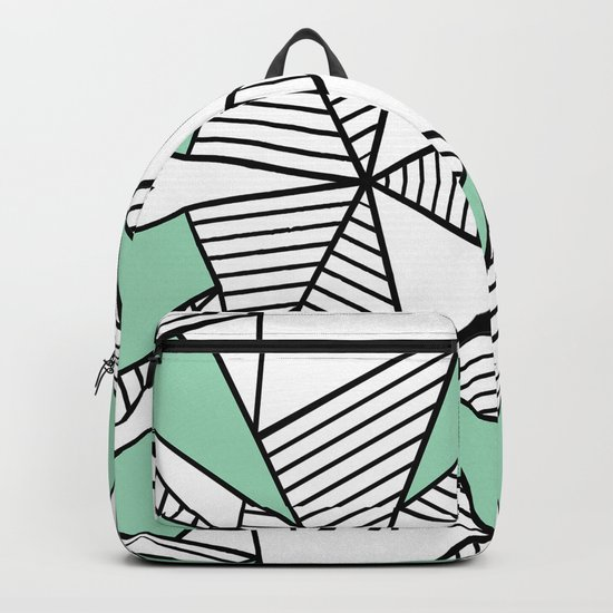 Triangle Tribal Mint Backpack