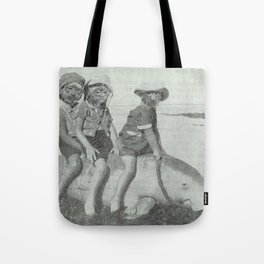 Monkey Manatee  Tote Bag