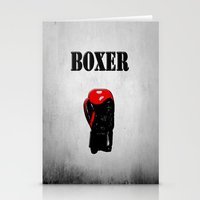 boxer Stationery Cards featuring Boxer by Louis Arthur