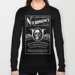 Faux School of Necromancy Recruitment Poster Long Sleeve T-shirt