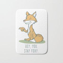 "Fox, ""Stay Foxy"" Bath Mat"