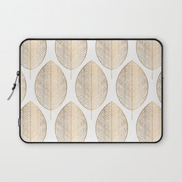 Gold Leaves Laptop Sleeve