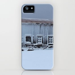 Snow Caked Barn iPhone Case