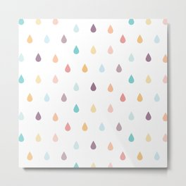 colorful rain Metal Print