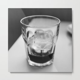 Timeless | Modern abstract black white coffee ice photography Metal Print