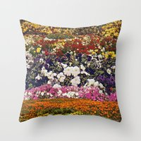 the neighbourhood Throw Pillows featuring Some neighbourhood called flower by Martin Carri