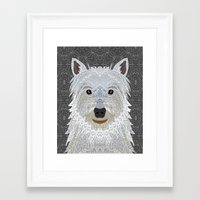 westie Framed Art Prints featuring Westie by ArtLovePassion