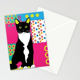 Bright cat Stationery Cards