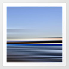 horizonte amarillo - seascape no.13 Art Print