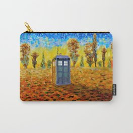 Tardis at Fall Grass field Art painting iPhone 4 4s 5 5c 6, pillow case, mugs and tshirt Carry-All Pouch