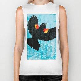 Red-Winged Blackbird says... Biker Tank