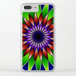 Queen of the valley mandala Clear iPhone Case