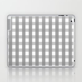 Gray Checkerboard Gingham Laptop & iPad Skin
