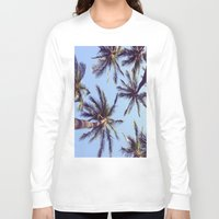 palm trees Long Sleeve T-shirts featuring Palm trees by Brenda Alvarez