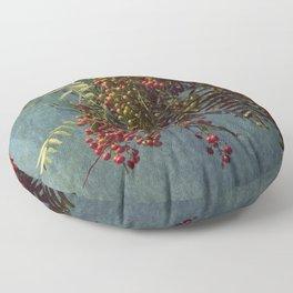 Grunge garden berries Floor Pillow