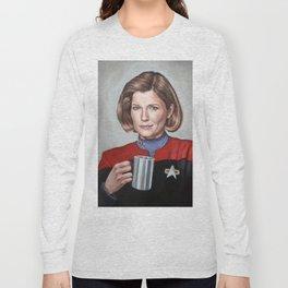 Captain Janeway - Portrait Painting Long Sleeve T-shirt